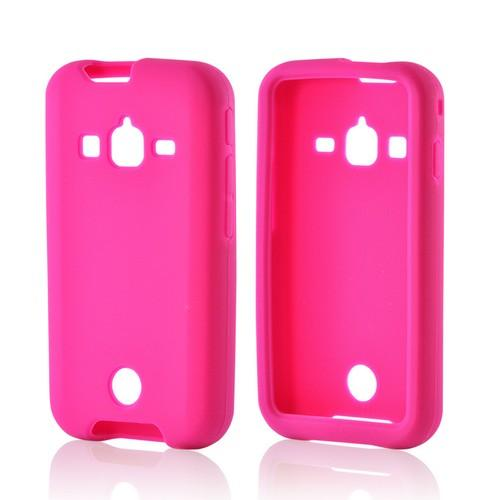 Hot Pink Silicone Case for Samsung Galaxy Rugby Pro