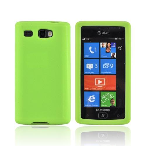 Samsung Focus Flash i677 Silicone Case - Neon Green