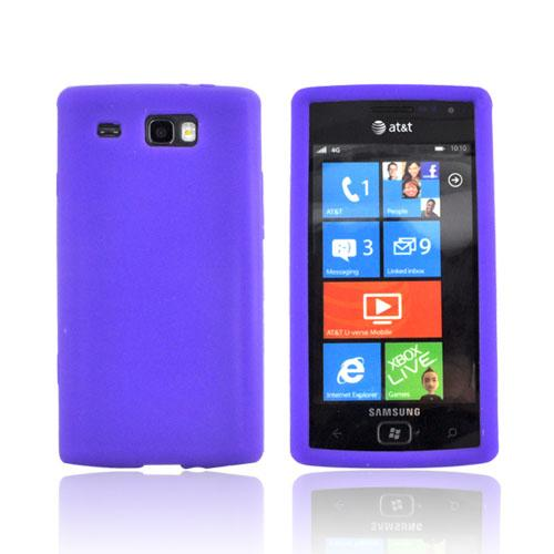 Samsung Focus Flash i677 Silicone Case - Purple