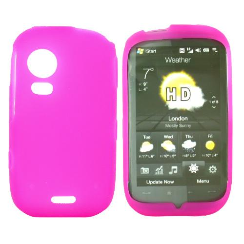 Samsung Instinct HD M850 Silicone Case, Rubber Skin - Hot Pink