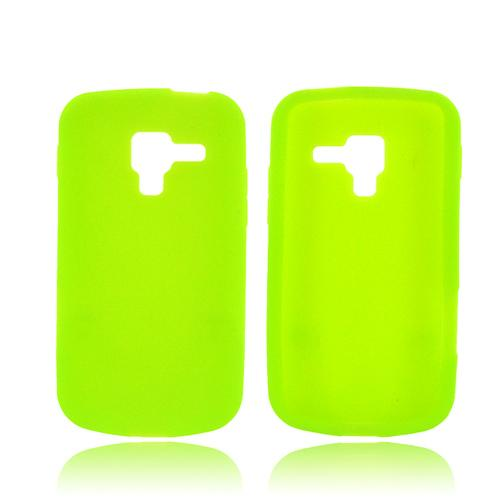 Samsung Exhilarate i577 Silicone Case - Neon Green