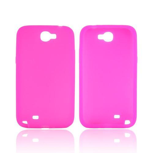 Samsung Galaxy Note 2 Silicone Case - Hot Pink