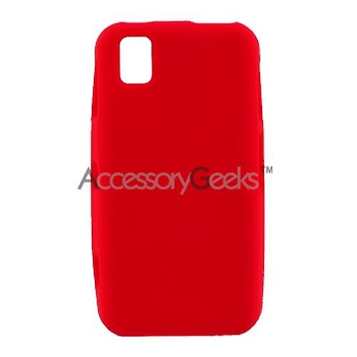 Samsung Finesse R810 Silicone Case, Rubber Skin - Red