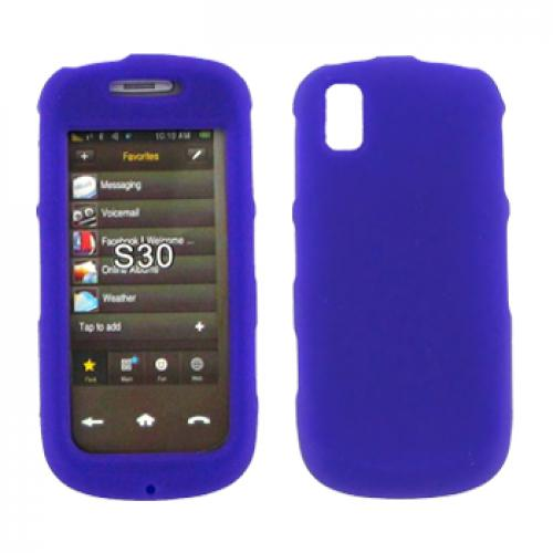Samsung Instinct S30 Silicone Case, Rubber Skin - Purple