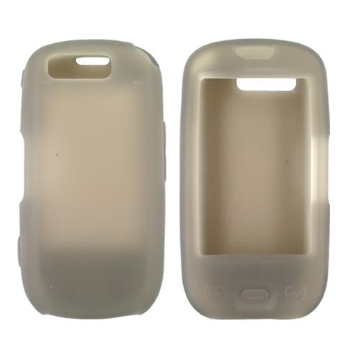 Samsung Highlight T749 Skin Case, Rubber Skin - Smoke