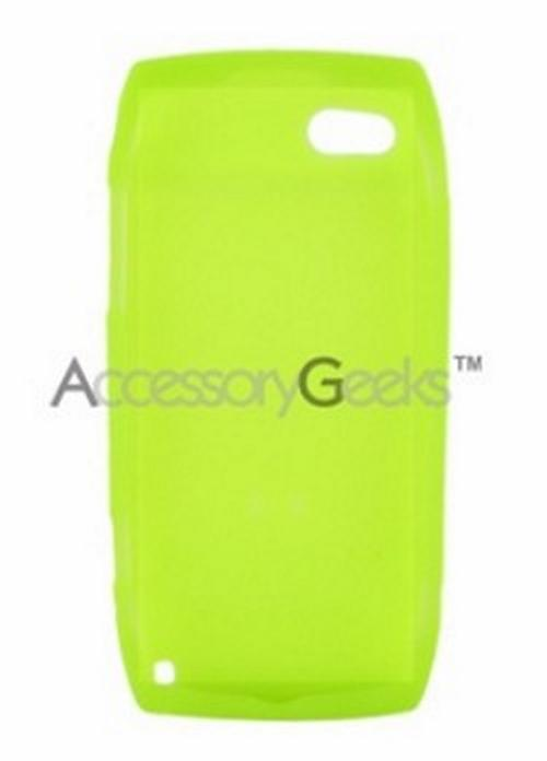 T-Mobile Sidekick LX 2009 Silicone Case, Rubber Skin - Neon Green
