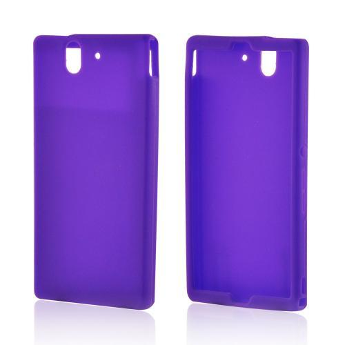 Purple Silicone Case for Sony Xperia Z