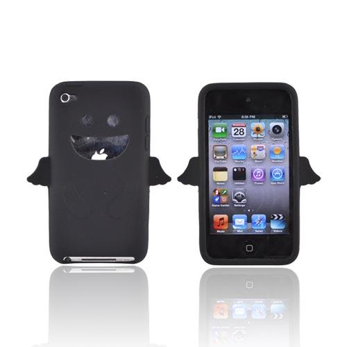 Apple iPod Touch 4 Silicone Case - Black Angel w/ Wings