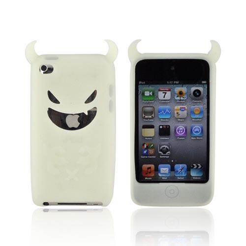 Apple iPod Touch 4 Silicone Case - Glow in the Dark Devil w/ Horns