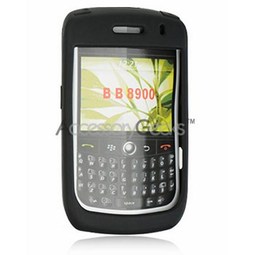 Blackberry Curve 8900 Premium Silicone Case, Rubber Skin - Black