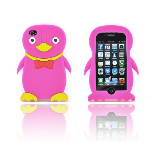 AT&T/ Verizon Apple iPhone 4, iPhone 4S Silicone Case - Hot Pink Duck