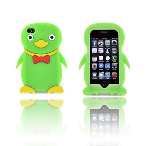 AT&T/ Verizon Apple iPhone 4, iPhone 4S Silicone Case - Neon Green Duck