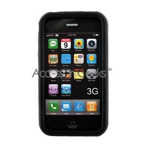 Premium Apple iPhone 3G & 3Gs Silicone Case, Rubber Skin - Black