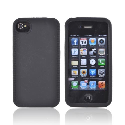 Premium Verizon/ AT&T iPhone 4, iPhone 4S Silicone Case - Black