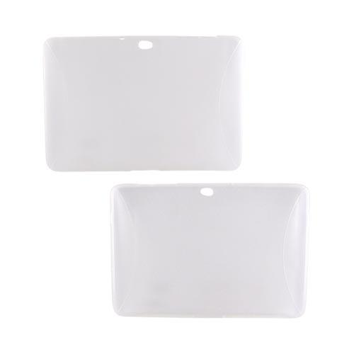 Samsung Galaxy Tab 10.1 Crystal Silicone Case w/ Textured Ends - Frost White