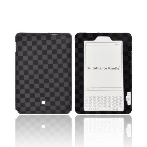 Amazon Kindle 2 Stretchy Eno-Case - Black Checkers