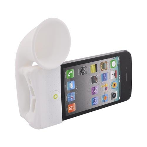 Original Bone Collection Apple AT&T iPhone 4/Verizon iPhone 4 Silicone Horn Stand Case, LF10021-W - White