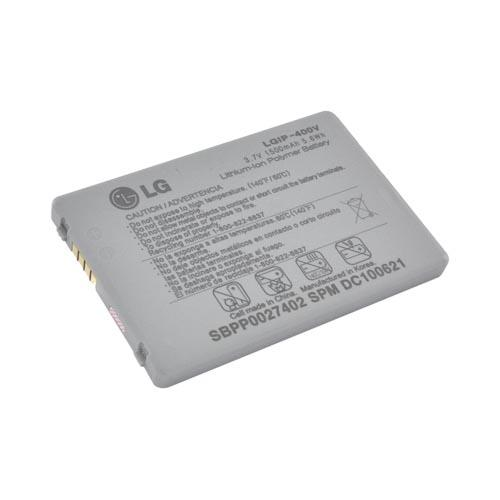 Original LG Ally VS740, LG Fathom VS750 Standard Replacement Battery (1500 mAh), LGIP-400V - Gray