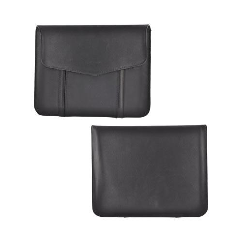Verizon Apple iPad (All Gen.) Nylon & Leather Horizontal Sleeve Pouch Case w/ Modem Pocket - Black