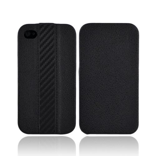 Luxmo Apple iPhone 4S, AT&T/Verizon iPhone 4 Vertical Leather Pouch - Black