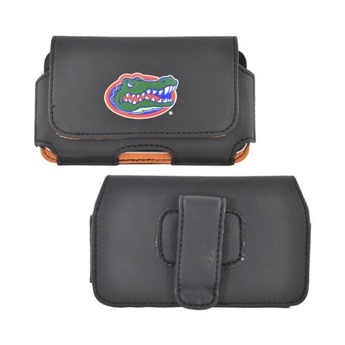 NCAA Licensed Horizontal Leather Pouch w/ Belt Clip - Florida Gators (PUTS)