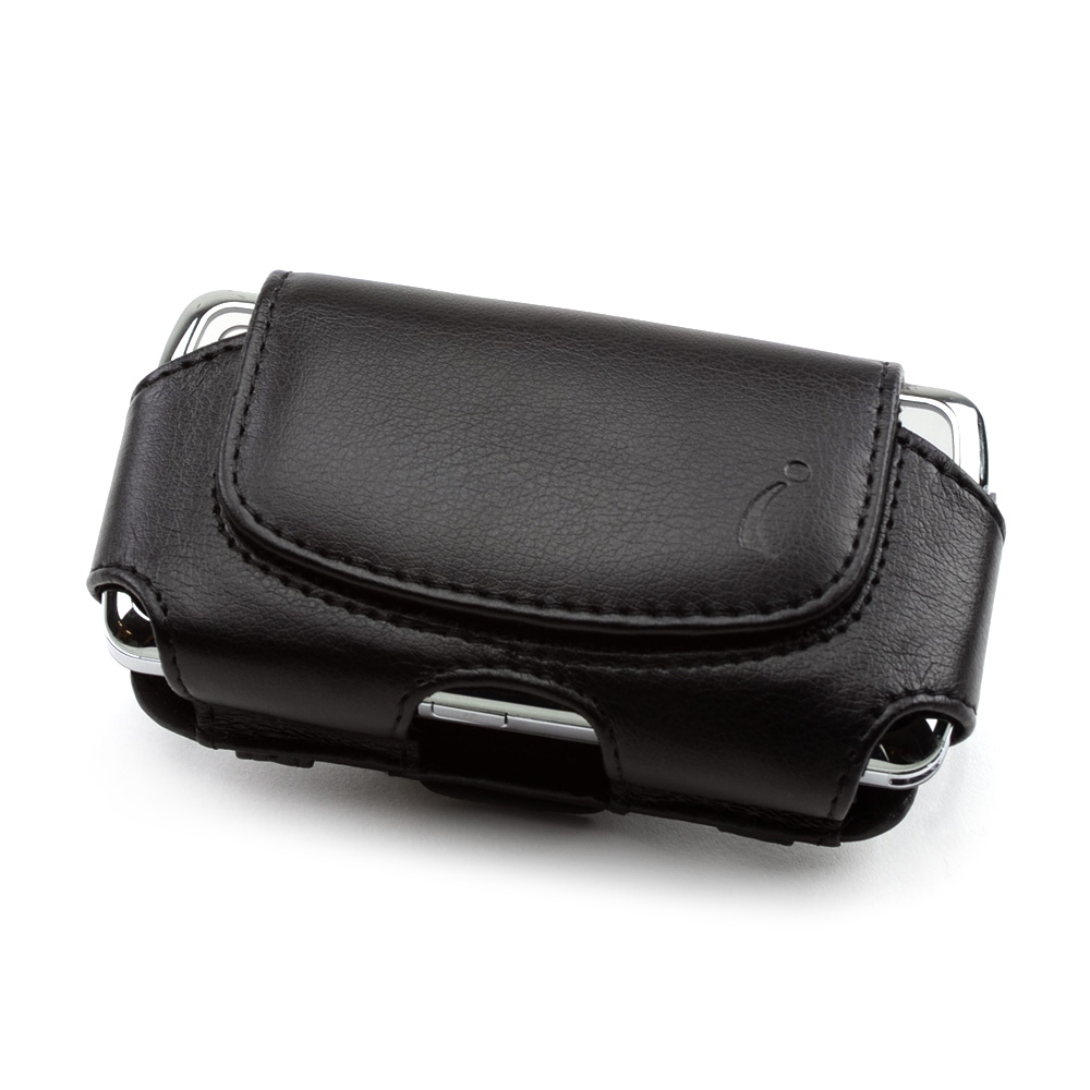 Premium Black Oil Leather Pouch w/ Magnetic Closure - (BS)