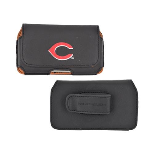 MLB Licensed Horizontal Cell Phone Pouch Case w/ Belt Clip - Cincinnati Reds (PUT)