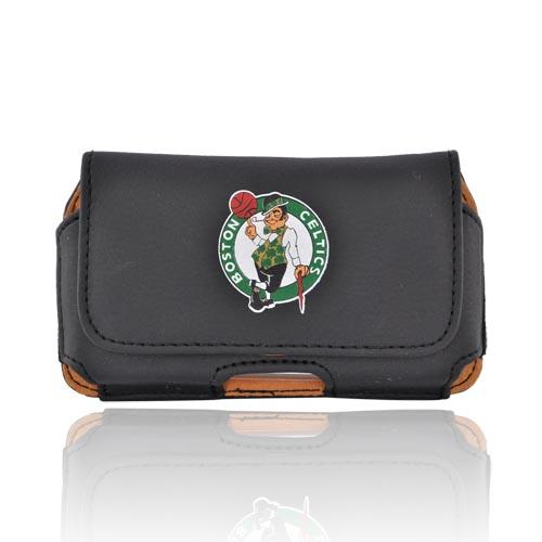 Licensed NBA Universal Boston Celtics Horizontal Leather Pouch - Black (PUT)