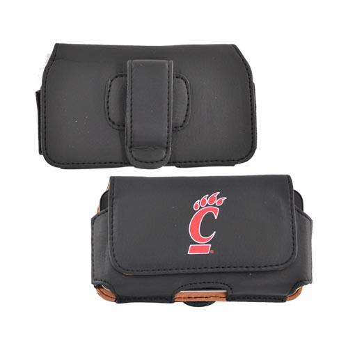 NCAA Licensed Horizontal Cell Phone Pouch w/ Belt Clip - Cincinnati Bearcats PUTL