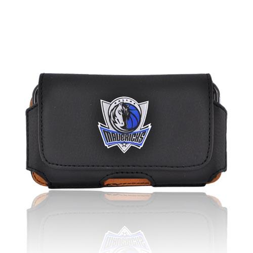 Licensed NBA Universal Dallas Mavericks Horizontal Leather Pouch - Black (PUT)