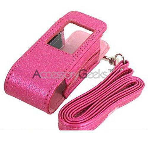 Samsung Juke Fashion Pouch w/ Window & Strap - Sparkling Hot Pink