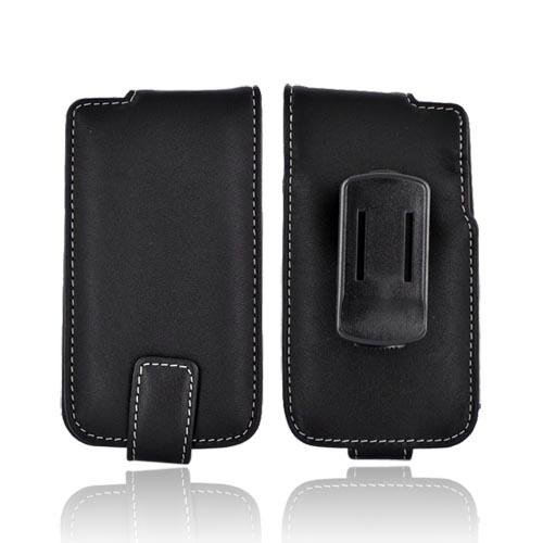Original Monaco Apple iPhone 4S, AT&T/Verizon iPhone 4 Geniune Leather Case w/ Belt Clip - Black