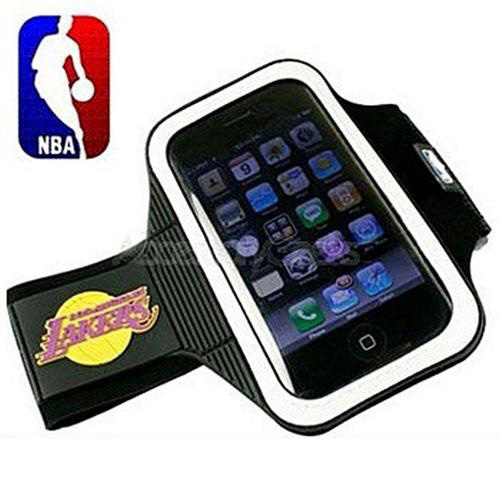 NBA Licensed Los Angeles Lakers Armband Case for Apple iPhone 3/3GS/4/4S