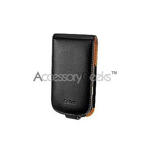 Samsung Omnia i910 Vertical Leather Pouch w/ Belt Clip - Black