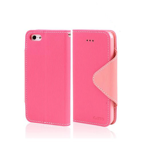 Hot Pink/ Baby Pink Exclusive CellLine Faux Leather Diary Flip Case w/ ID Slots & Bill Fold for Apple iPhone 5/5S