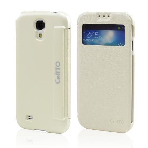 White CellLine S-View Diary Flip Cover for Samsung Galaxy S4