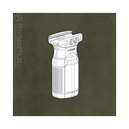 Magpul Original Equipment® (MOE RVG) 1913 Picatinny Rail Vertical Textured Plastic Grip - Black