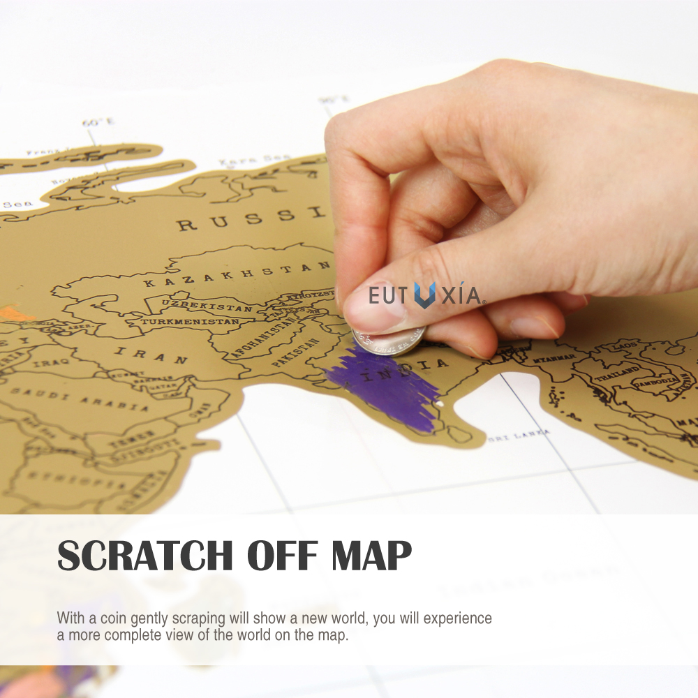 Travel Scratch World Map 34x20 inch Track Places Where Youamp – Map To Track Travel