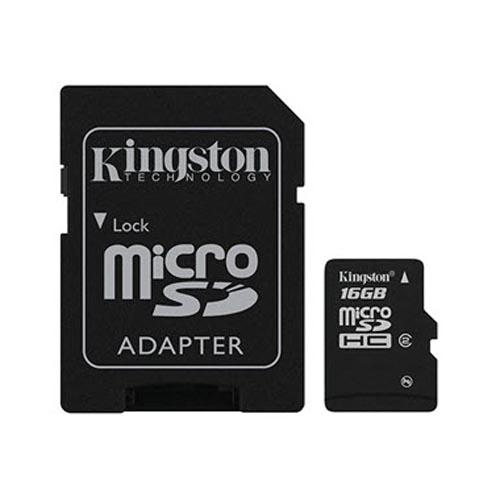 Kingston 16GB Micro SDHC Memory Card w, SD Adapter