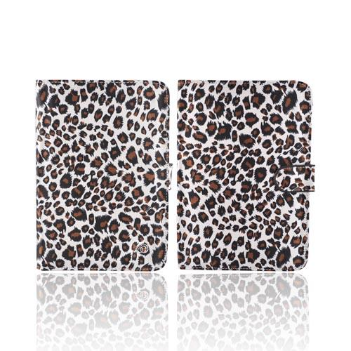 Original Kroo USA Amazon Kindle 3 Hard Notebook Cover Case w/ Pen Holder, MDK3ECE2 - Leopard on Silver