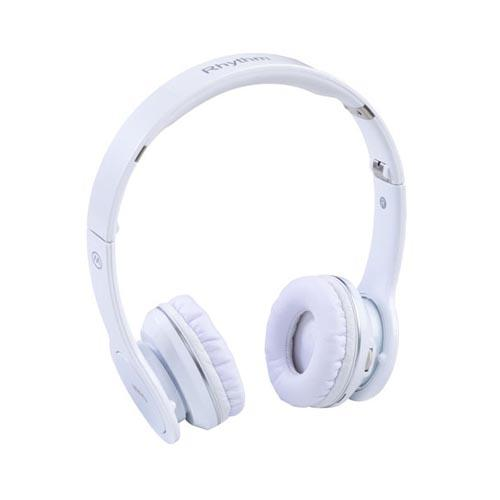 Original MiiKey Universal Wireless Rhythm High Definition Collapsible Bluetooth Headset (2.5mm) w/ Smart Talk - White