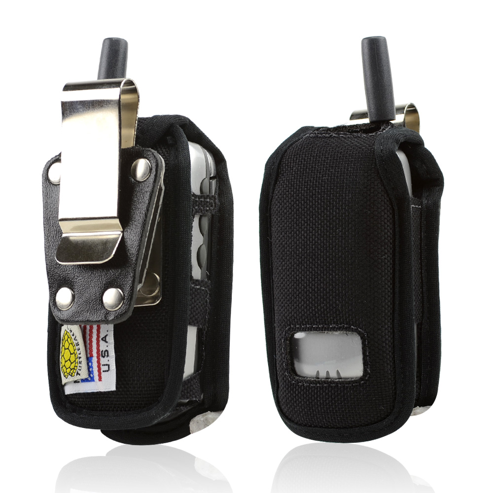 Original Turtleback Motorola i410 Heavy Duty Nylon Case w/ Steel Belt Clip - Black
