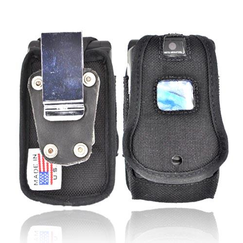 Original TurtleBack Premium Motorola RAZR V3 Heavy Duty Nylon Case w/ Steel Belt Clip - Black