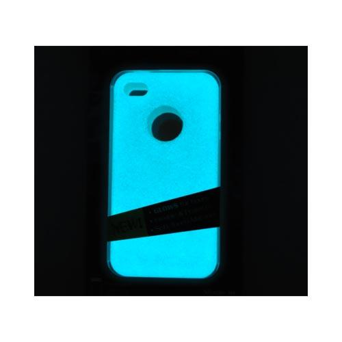 Original MoonSkins AT&T/ Verizon Apple iPhone 4, iPhone 4S Glow-In-The-Dark Crystal Silicone Case, MSK-CW01-01 - White