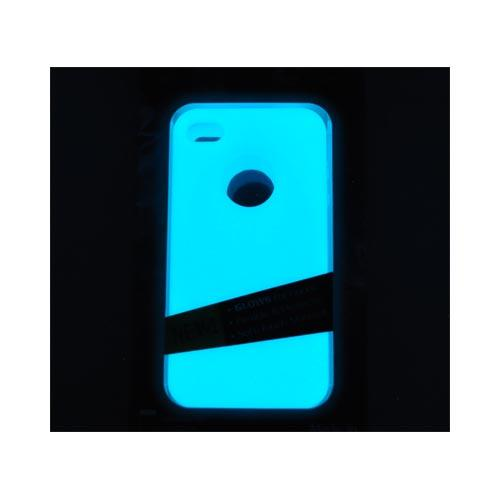 Original MoonSkins AT&T/ Verizon Apple iPhone 4, iPhone 4S Glow-In-The-Dark Crystal Silicone Case, MSK-TW01-01 - Blue
