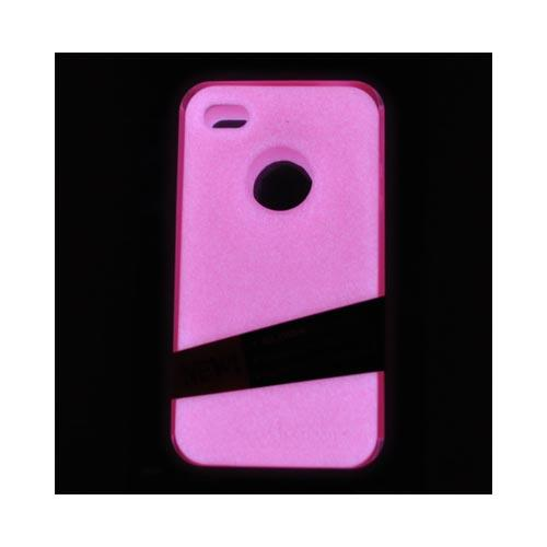 Original MoonSkins AT&T/ Verizon Apple iPhone 4, iPhone 4S Glow-In-The-Dark Crystal Silicone Case, MSK-VP01-01 - Hot Pink