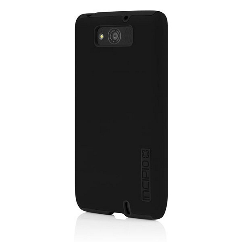 Incipio Black Dual PRO Series Rubberized Hard Case on Silicone for Motorola Droid Maxx - MT-298
