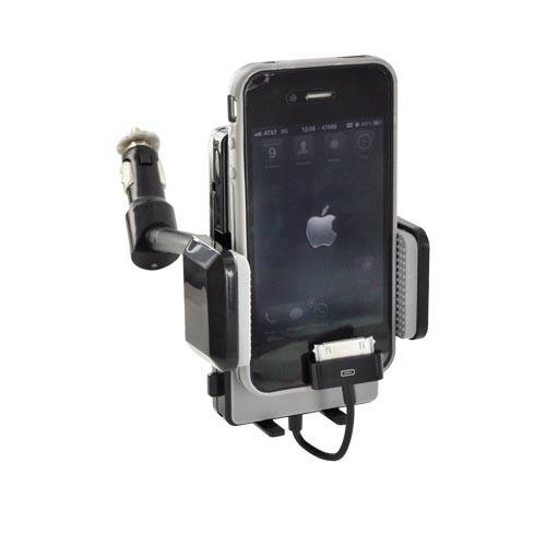 Original Naztech Apple iPhone/ iPod FM Transmitter w/ USB Port & 3.5mm Cable, N3005 - Black