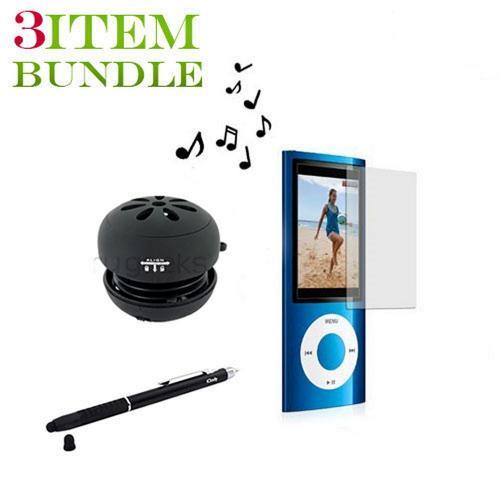 Apple iPod Nano 5 Combo Package w/ Portable Speaker, Screen Protector and Stylus