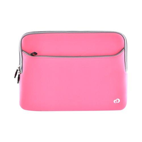 "Original Kroo 13"" Notebook Neoprene Glove Sleeve Case, ND133GP1 - Baby Pink/ Gray"